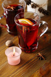 Xmas red hot wine Royalty Free Stock Image