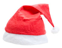 xmas red santa claus cap isolated on white Royalty Free Stock Image