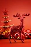 Xmas reindeer Stock Photo