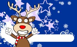 Xmas reindeer cartoon expression background Royalty Free Stock Images