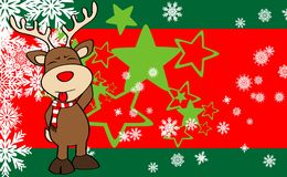 Xmas reindeer cartoon expression background6 Stock Photography