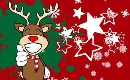 Xmas reindeer cartoon expression background7 Royalty Free Stock Photography