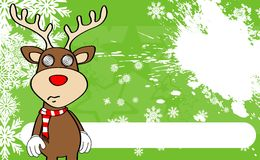 Xmas reindeer cartoon expression background8 Stock Image