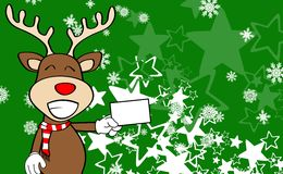 Xmas reindeer cartoon expression background04 Stock Image