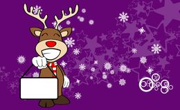 Xmas reindeer cartoon expression background05 Royalty Free Stock Photo