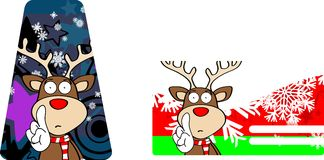 Xmas reindeer cartoon giftcard2 Stock Image