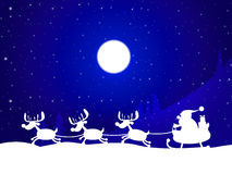 Xmas Reindeer Indicates Father Christmas And Celebration Stock Images