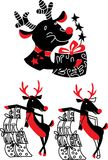 Xmas reindeer Rudolf Royalty Free Stock Images
