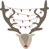 Xmas Reindeer Royalty Free Stock Image