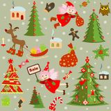 Xmas retro wallpaper Stock Images