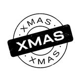 Xmas rubber stamp Royalty Free Stock Photography