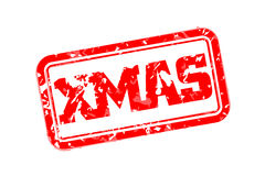 Xmas rubber stamp. Vector illustration Stock Photography