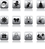 Xmas's icon button Royalty Free Stock Photography