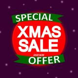 Xmas Sale, banner design template, Christmas discount tag, best deal, vector illustration. Xmas Sale, banner design template, Christmas discount tag, best deal stock illustration