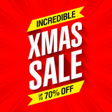 Xmas Sale banner Royalty Free Stock Photo