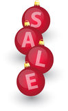 Xmas sale bulbs 2 Stock Images