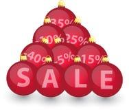 Xmas sale bulbs 3 Royalty Free Stock Photography