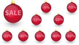 Xmas sale bulbs set Stock Image