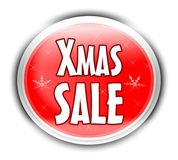 Xmas sale button Stock Photo