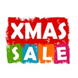 Xmas sale. Colorful draw banner, business concept Stock Photography