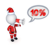 Xmas sale concept. Isolated on white background. 3d rendered Stock Photography
