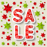 Xmas sale concept Royalty Free Stock Photo