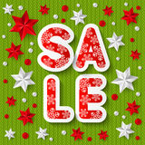 Xmas sale concept Royalty Free Stock Image