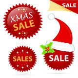 Xmas sale icons Stock Image