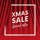 Xmas sale. Special offer. White frame. Vector illustration. Xmas sale. Special offer. White frame. Vector Royalty Free Stock Photography