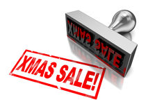 Xmas sale stamp Royalty Free Stock Photography