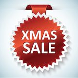 Xmas sale vector banner. With realistic shadow Royalty Free Stock Photos