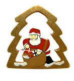 Xmas santa. With pine shape (isolated Royalty Free Stock Photography
