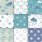 Xmas scandy pattern Royalty Free Stock Photography