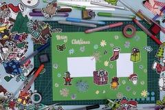 Xmas scrapbook layout Stock Photo