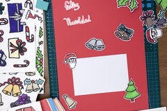 Xmas scrapbook layout Royalty Free Stock Images