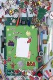 Xmas scrapbook layout Stock Photography