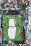 Xmas scrapbook layout Royalty Free Stock Images