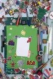 Xmas scrapbook layout Royalty Free Stock Photos