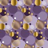 Xmas seamless dots modern pattern. purple background geometry ci Stock Photos