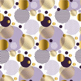 Xmas seamless dots modern pattern. Stock Images