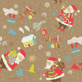 Xmas seamless pattern Royalty Free Stock Image