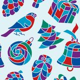 Xmas seamless pattern Stock Photos
