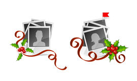 Xmas set photo with avatars Royalty Free Stock Photos