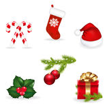Xmas Set. Vector Royalty Free Stock Photo