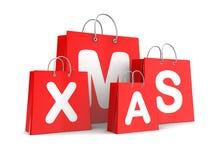 Xmas-shopping Fotografering för Bildbyråer