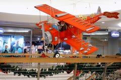 Xmas Shopping Italian mall Airplane Stock Image