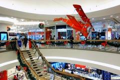 Xmas Shopping Italian mall Stock Photos