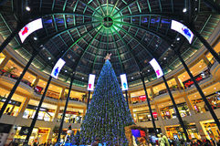 Xmas in shopping mall Stock Images