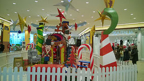 Xmas shopping mall Stock Images