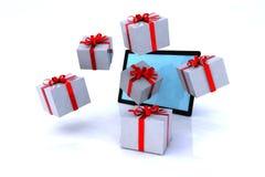 Xmas shopping online Stock Photo